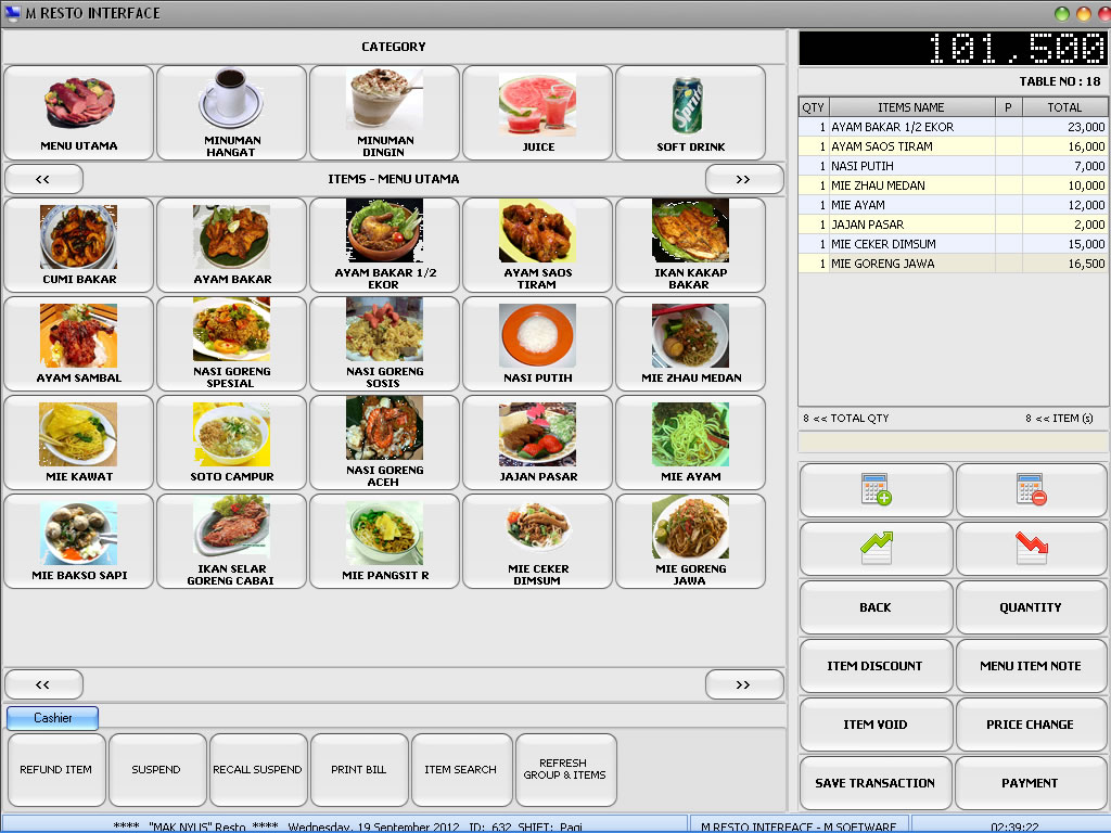 Prima restaurant jual software restaurant batam sistem for Restaurant planning software